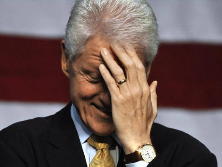 bill clinton facepalm